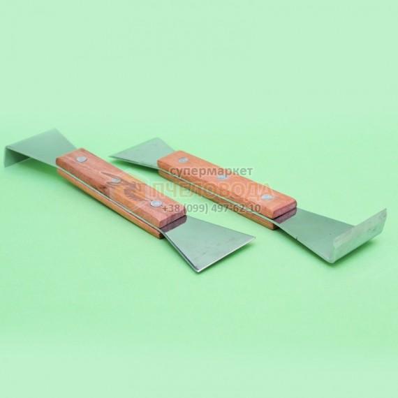 Стамеска хромированная, ручка деревянная (20см).