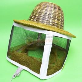 Бамбуковая шляпа с металлической сеткой