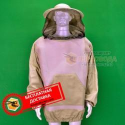 Куртка пчеловода LUX с маской круглой (коттон+сетка) фото 1