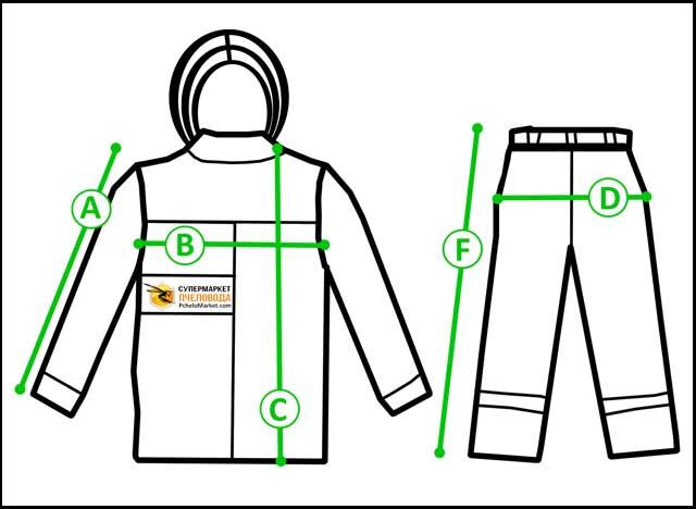 Размеры пчеловодной одежды